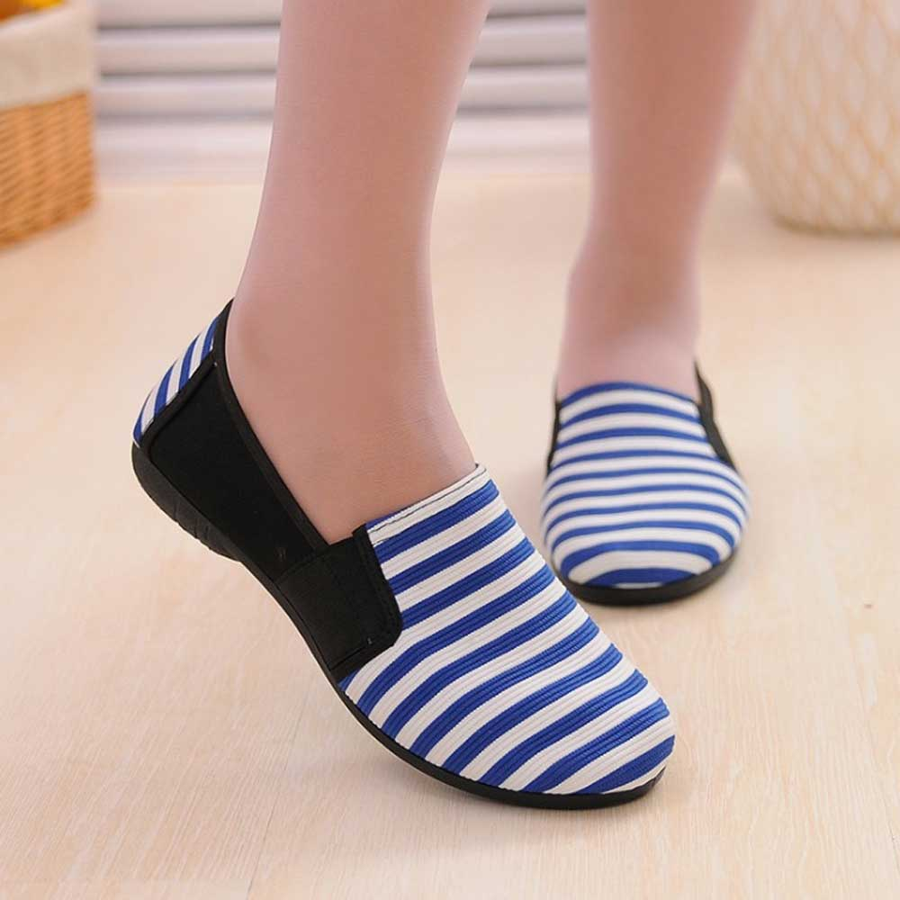 KNE Women's Old Beijing Fabric Canvas Shoes Women's Shoes Sunshine China Blue EUR 36