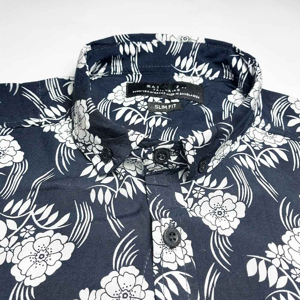 SRT Men's Candytuft Printed Casual Shirt Men's Casual Shirt SRT S