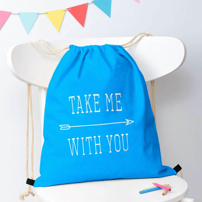 Polo Republica Take Me With You Drawstring Bag Drawstring Bag Polo Republica Sky Blue White