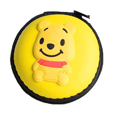 Cartoon Character Headphone Storage Bag Storage Bag Sunshine China Bear Yellow
