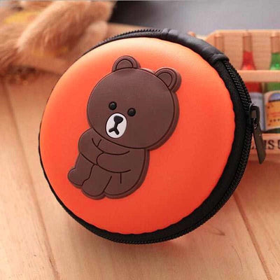 Cartoon Character Headphone Storage Bag Storage Bag Sunshine China Big Bear Orange