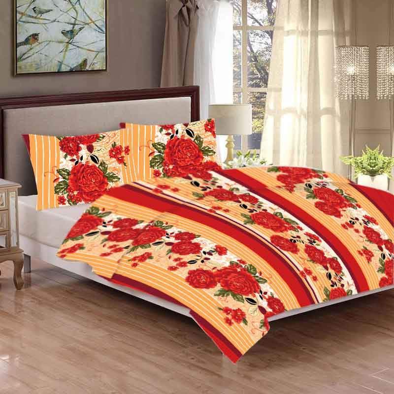 MGN Aconitum Design 2-PCS Double Bed Sheet Set Bed Sheet MGN