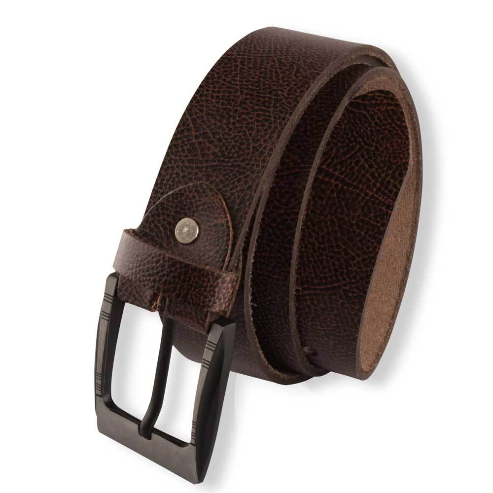 Men's 10-17C20 Genuine Leather Belt Men's Belt LNL Brown 30-32