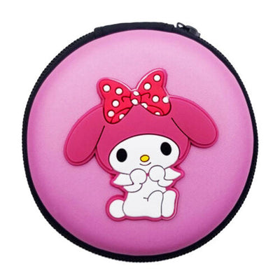 Cartoon Character Headphone Storage Bag Storage Bag Sunshine China Small Kitten Purple