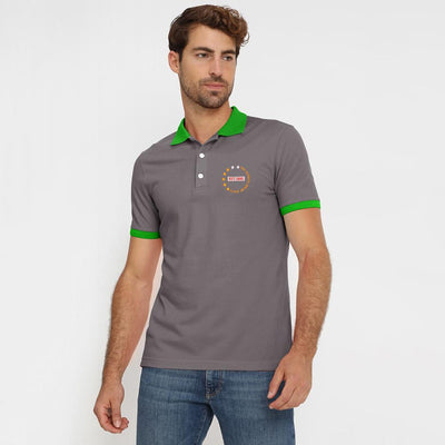 Polo Republica Dazaifu Embro Polo Shirt Men's Polo Shirt Polo Republica Graphite Parrot S