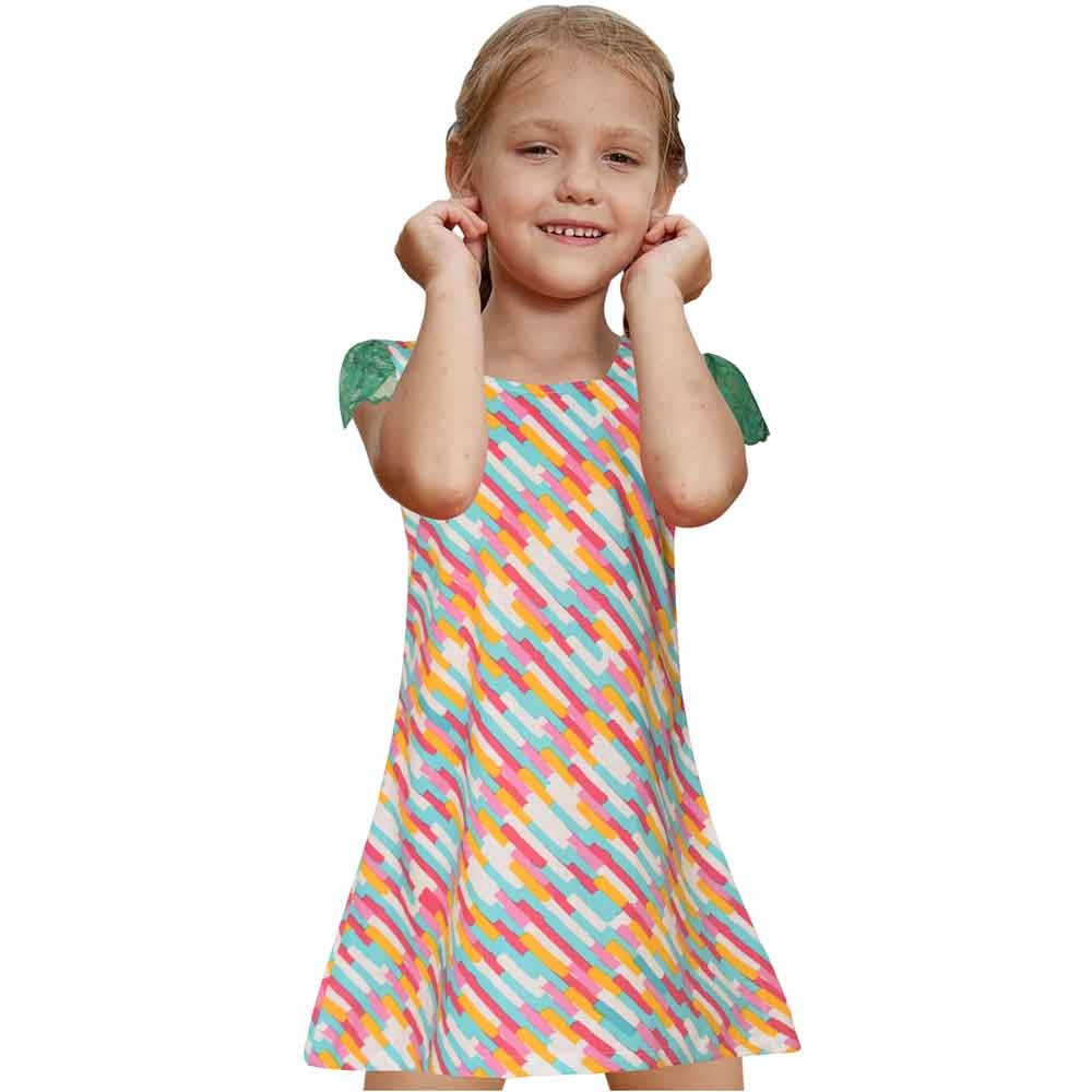 Safina Kid's Crayola Short Sleeve Frock Girl's Frock Bohotique 2-3 Years