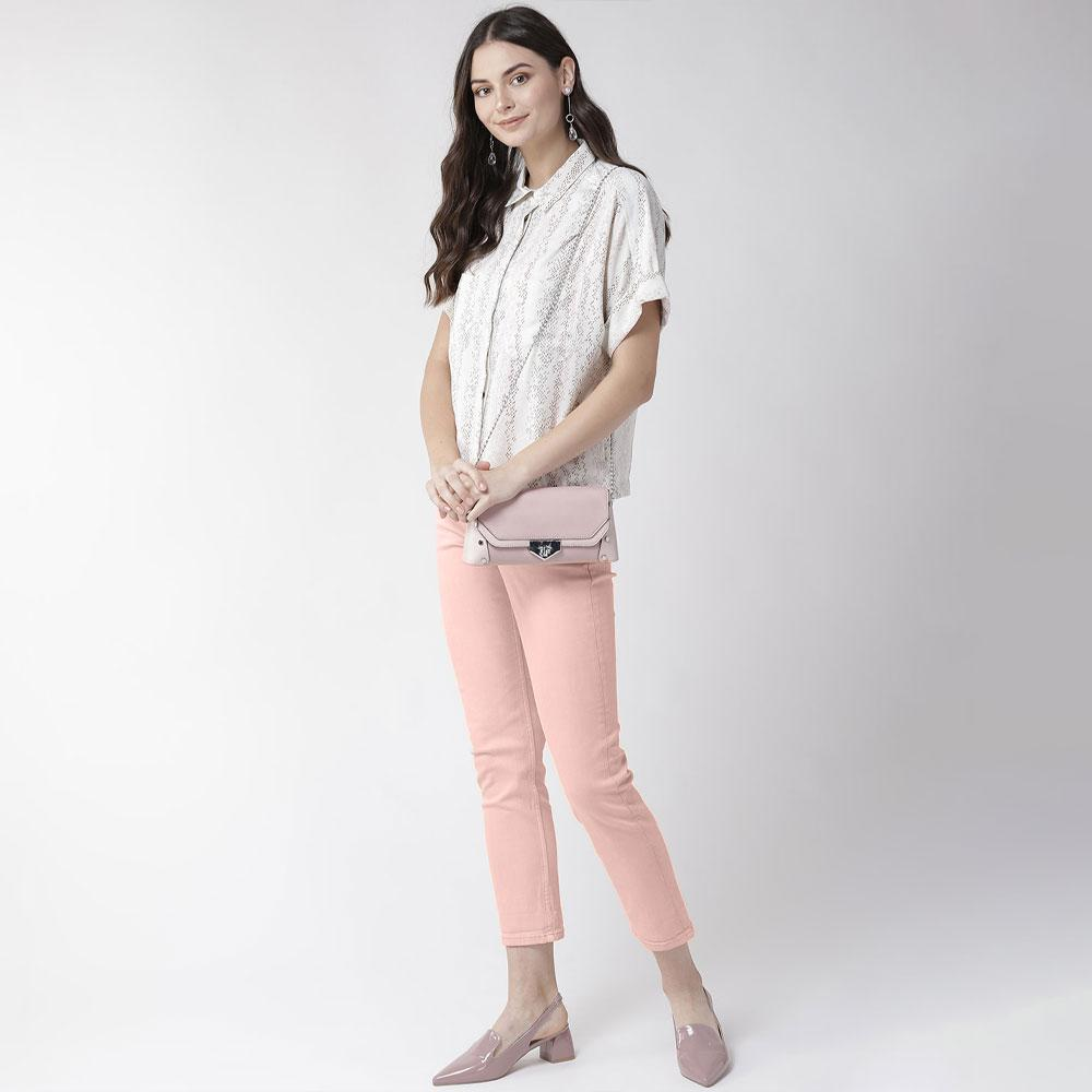 MNG Women's Mercia Straight Fit Denim Women's Denim SRK Pink 22 24