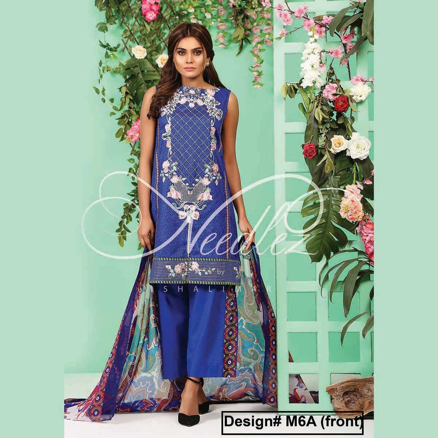 Needlez by Shalimar Unstitched Alfick Misha Lawn Embroidery Suit