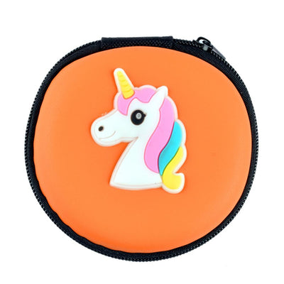 Cartoon Character Headphone Storage Bag Storage Bag Sunshine China Unicorn Orange