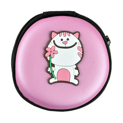 Cartoon Character Headphone Storage Bag Storage Bag Sunshine China Big Cat Purple