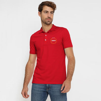 Polo Republica Dazaifu Embro Polo Shirt Men's Polo Shirt Polo Republica Red Red S