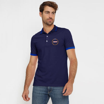 Polo Republica Dazaifu Embro Polo Shirt Men's Polo Shirt Polo Republica Navy Navy S