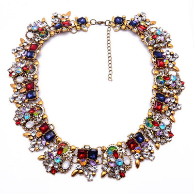 Charming Design Rhinestone Choker Necklace Jewellery Sunshine China D2