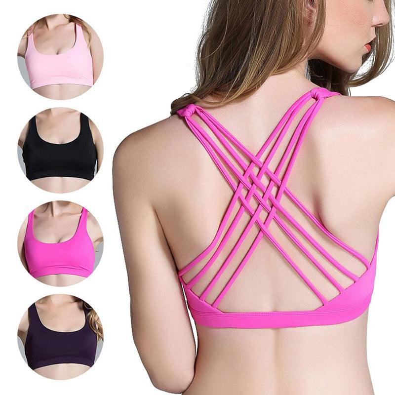 Cross Beauty Back Quick Drying Shockproof Sports Bra Women's lingerie Sunshine China Magenta S
