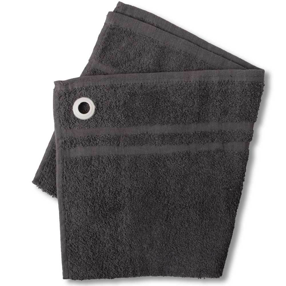 HNC Embellish Kitchen Towel with Eyelet Towel Haroon Cp Charcoal