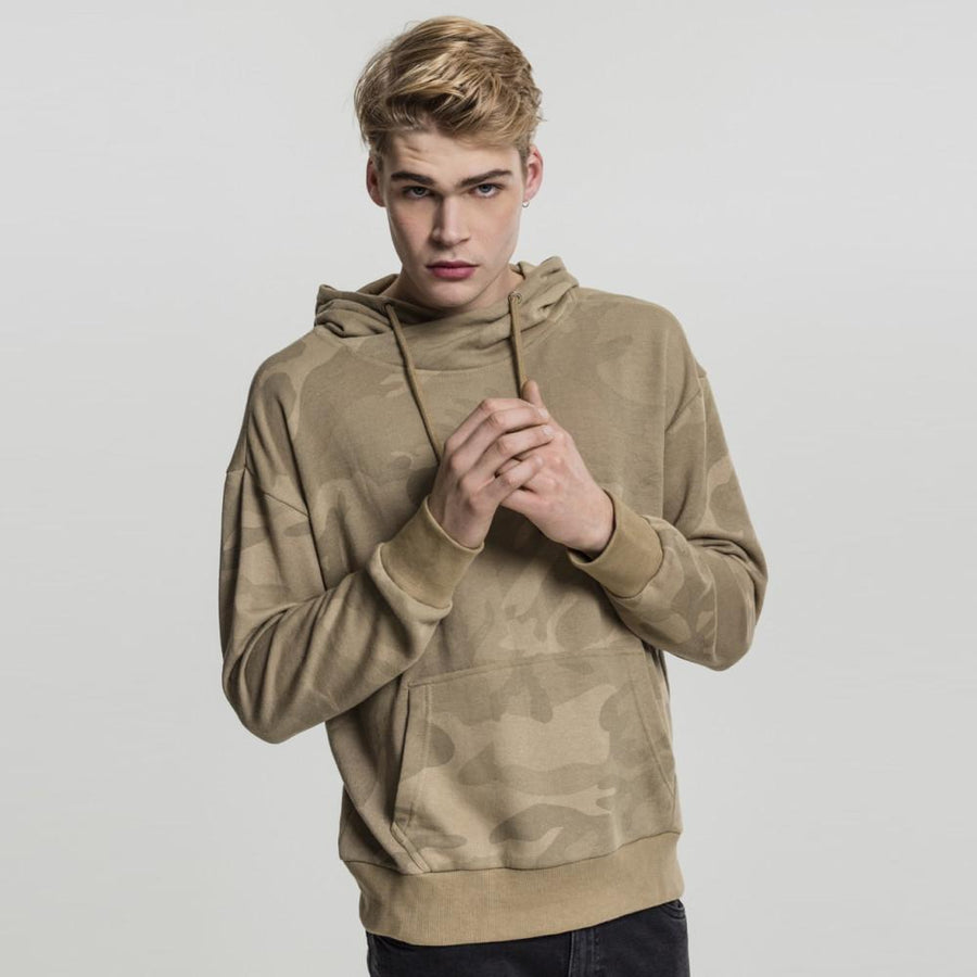 UBN Classic Celio Army Camo Design Terry Pullover Hoodie