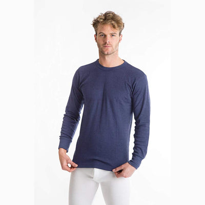 Viva Classic Long Sleeve Thermal Tee Shirt Men's Tee Shirt SNC Jeans Marl 6