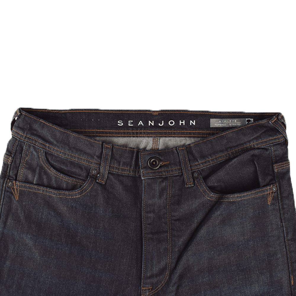 SNJ Raw Indigo Athlete Tapered Stretch Denim Men's Denim SRK