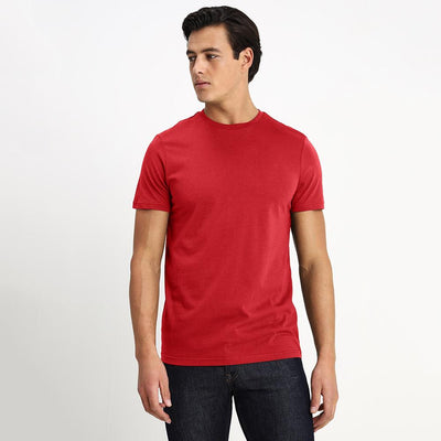 CSG Paulinia Men's Solid Tee Shirt Men's Tee Shirt First Choice Red S