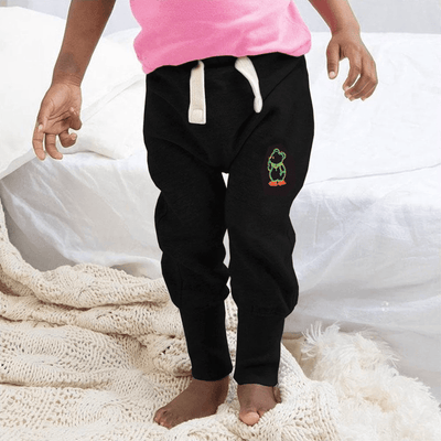 MTS Kid's Mr Jumbo Embro Sweat Pants Boy's Sweat Pants Image Black 12-18 Months