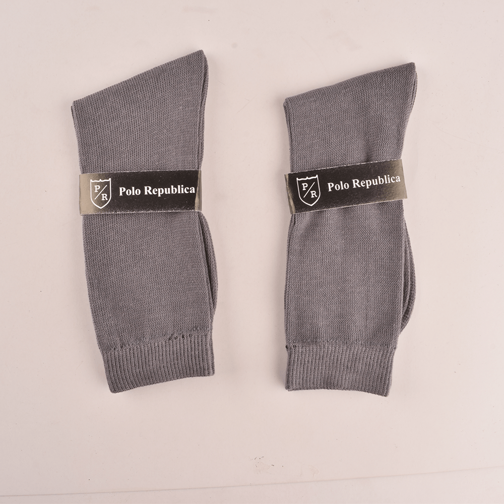 Polo Republica Kid's Enviable Pack of Two Crew Socks Socks RKI Graphite EUR 26-28