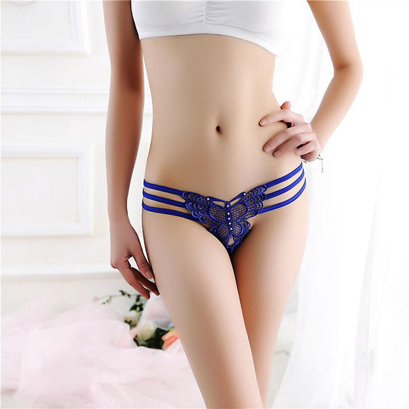 Women's Sexy G String Transparent Lace Hollow Thong Women's lingerie Sunshine China