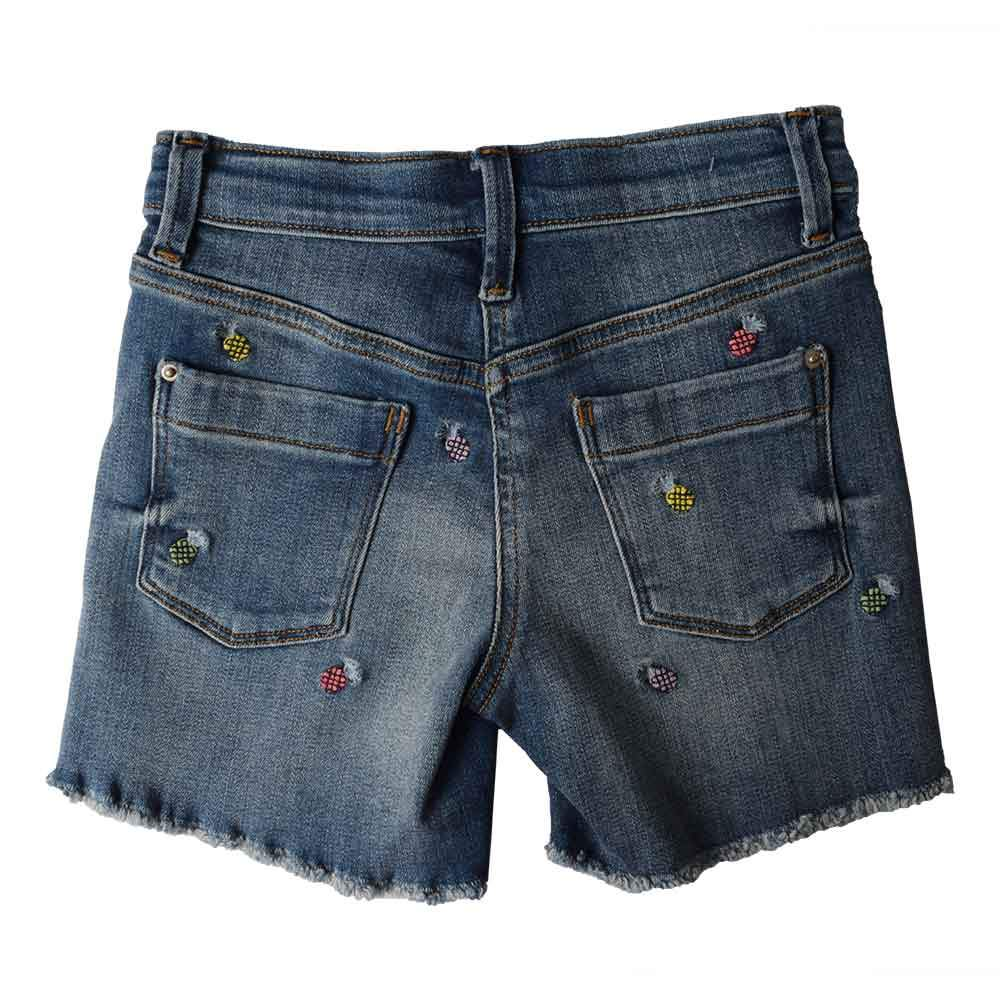 JCW Girl's Ananas Fringed Edged Denim Shorts Kid's Shorts SRK