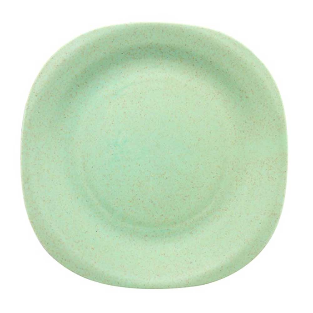 WST Non-Toxin Solid Color Plastic Snack Plates Kitchen Accessories Sunshine China Mint Green