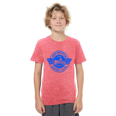 HM Motor Cycle Ride Club EST 1975 Kids Tee Shirt Boy's Tee Shirt First Choice Brick Red 6-9 Months