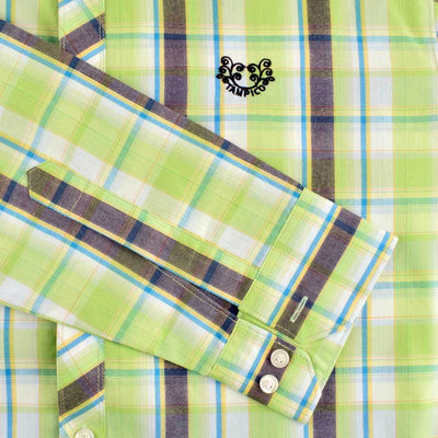 AHE Tampico Fashion Awesome Check Design Casual Shirt Men's Casual Shirt AHE
