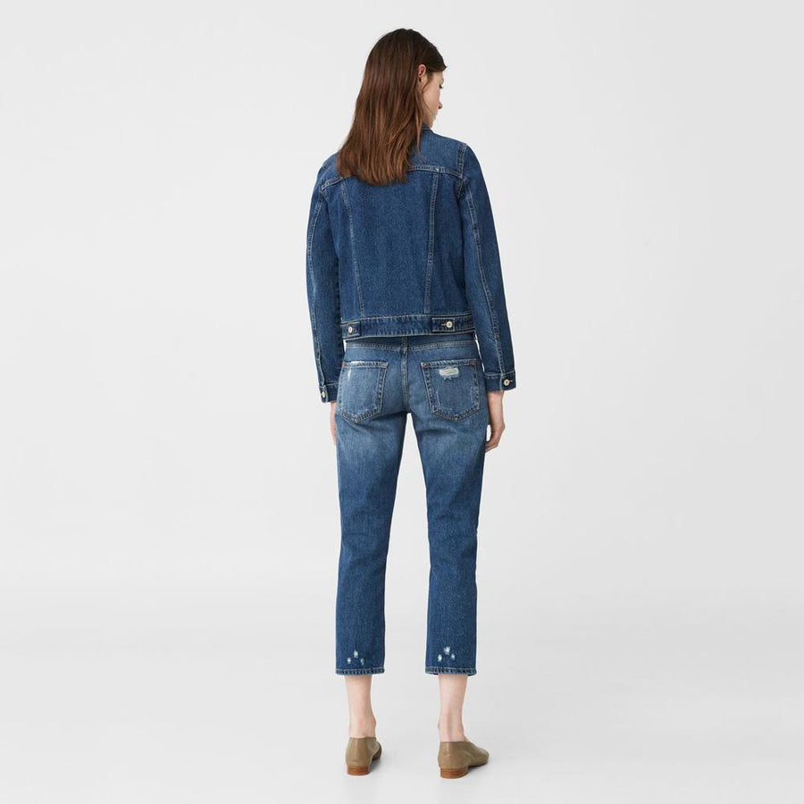 MGO Labinsk Relaxed Fit Cropped Denim
