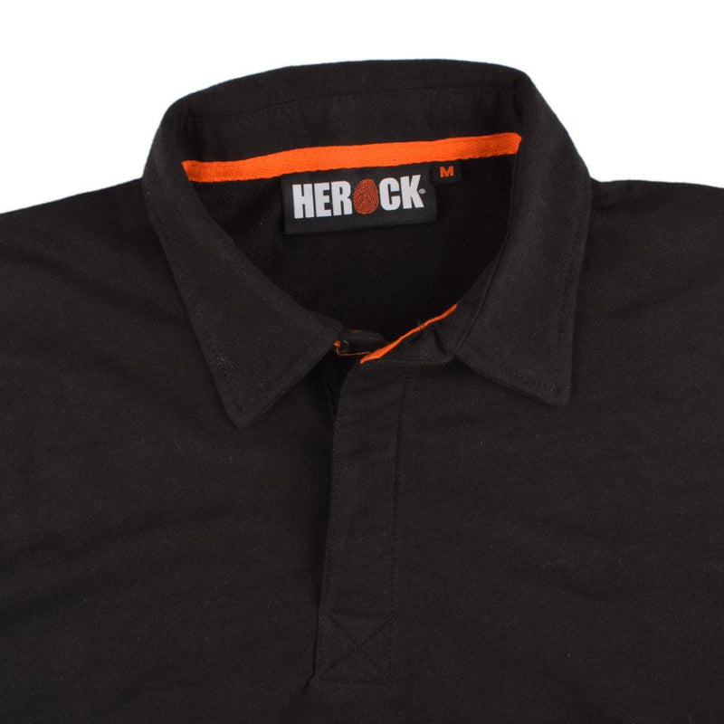 Herock Troja Men's Long Sleeves Polo Shirt Men's Polo Shirt Image Black S