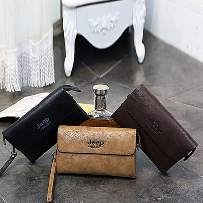 Jeep Buluo PU Leather Hand Bag Men's Accessories Sunshine China