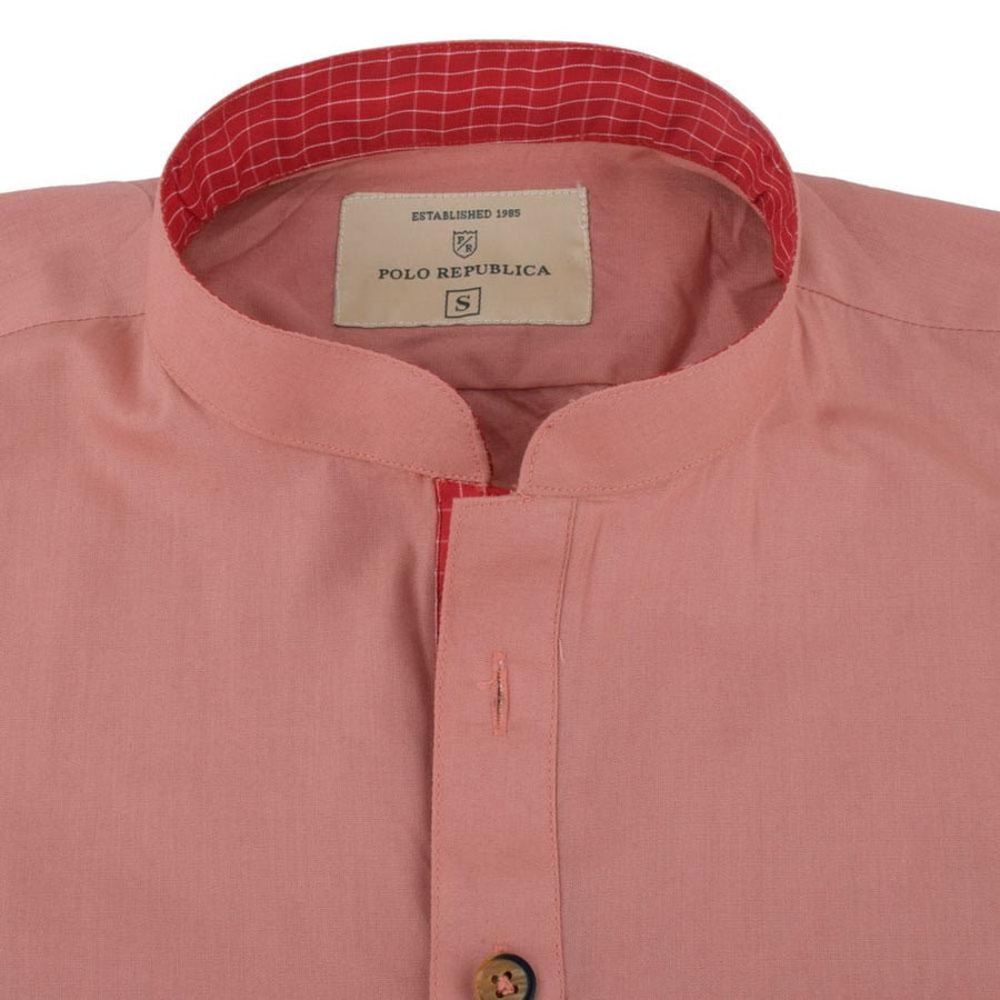 Polo Republica Peach Classic Stitched Kurta