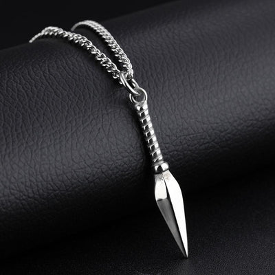 Stainless Steel Spear Pendant Necklace Men's Accessories Sunshine China