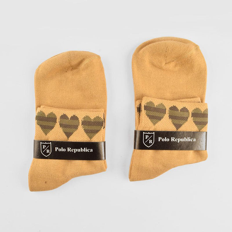 Polo Republica Women's Heart Design Pack Of 2 Anklet Socks Socks RKI