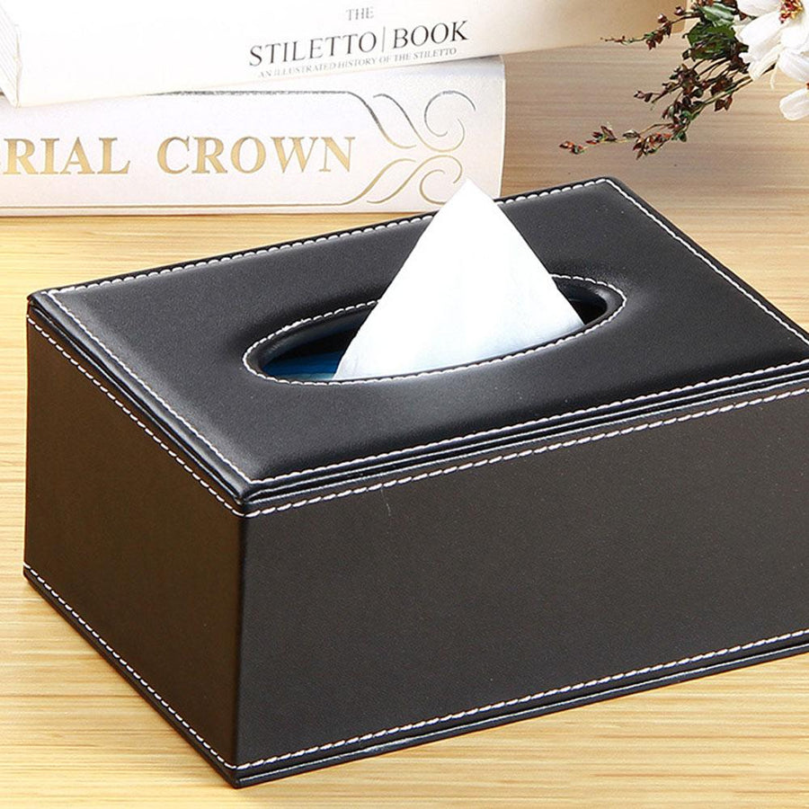 Grace Home Fashion N Creative Leather Tissue Box
