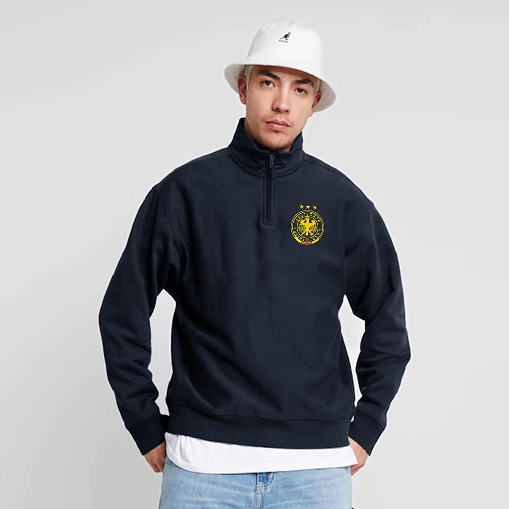 Polo Republica Fuss Ball Classic Zipper Neck Sweat Shirt Men's Sweat Shirt Polo Republica Navy S