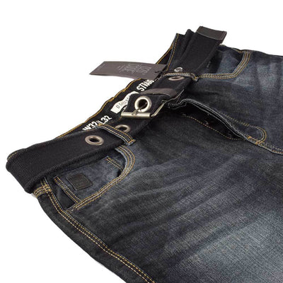 DNM Co Est 1969 Dept Dark Wash Straight Fit Denim With Belt Men's Denim SRK