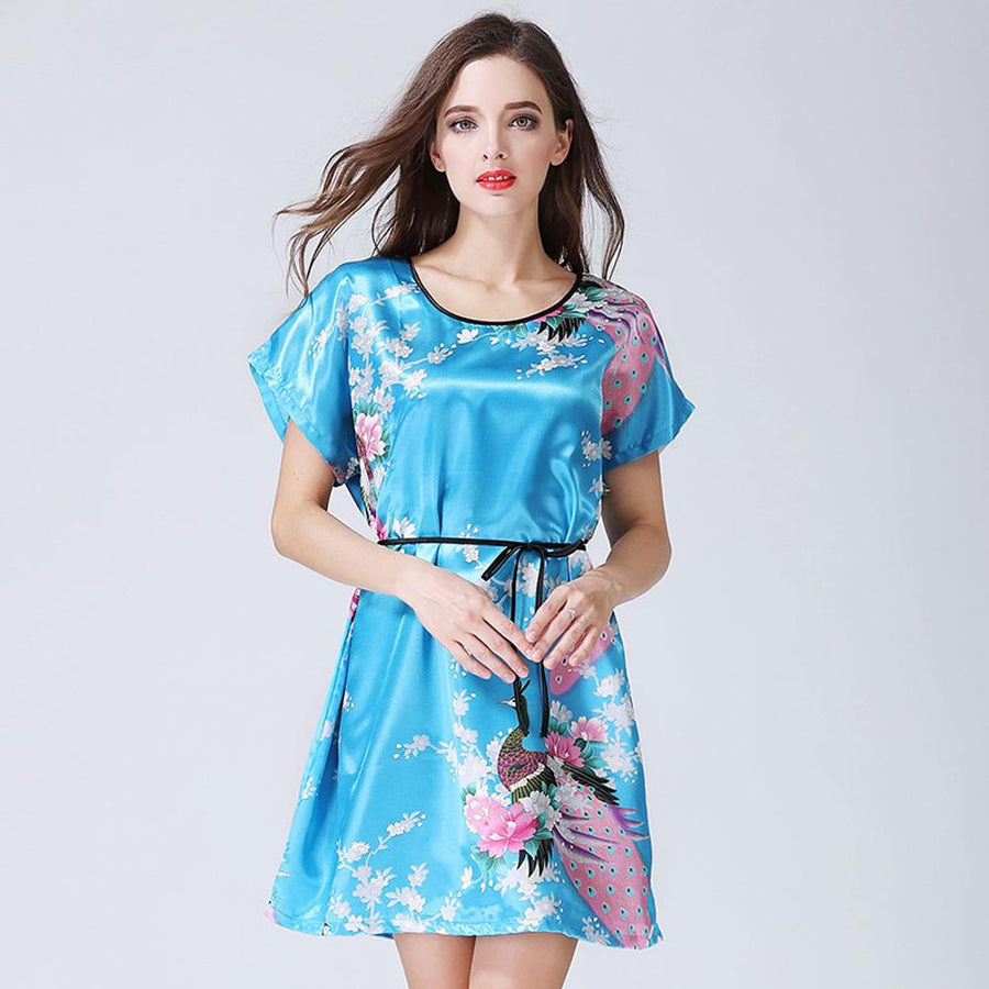 Spring And Summer Explosions Simulation Silk Nightdress