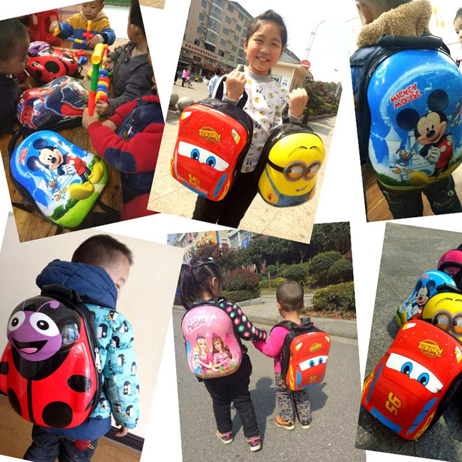 Cartoon Character Hard Shell Backpack