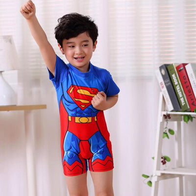 Pa In Pa Comics Boy's Superman Swimsuit Swimming Suit Sunshine China