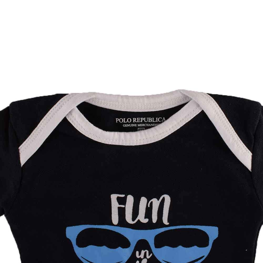 Polo Republica Fun Under The Sun Long Sleeve Pique Baby Romper Babywear Polo Republica
