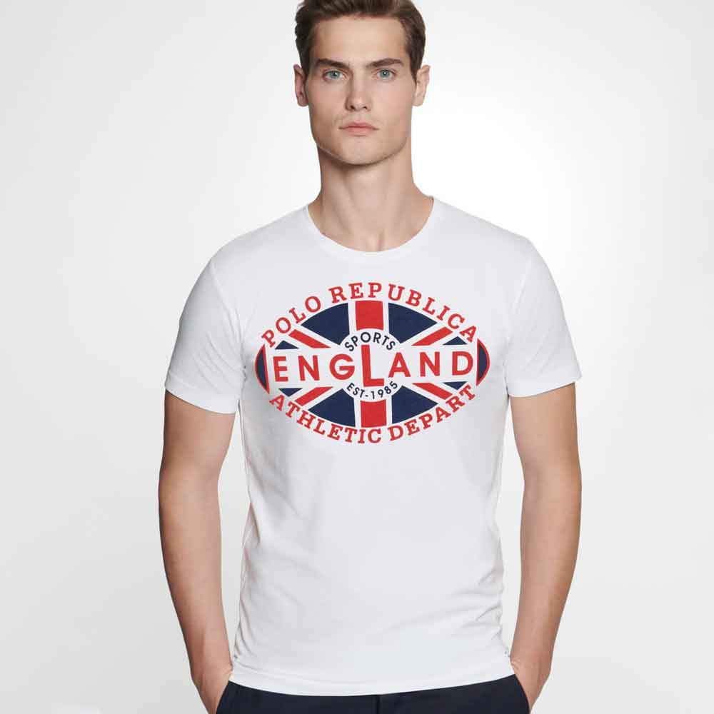 Polo Republica Men's England Sports Depart Tee Shirt Men's Tee Shirt Polo Republica S