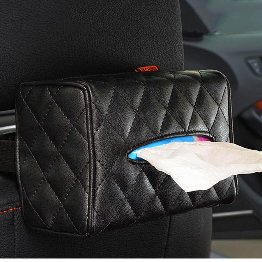Sun Visor Chair Back Creative Car Tissue Box