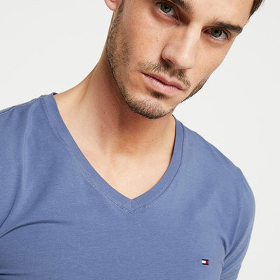 Tommy Hilfiger Men's Classic V-Neck Tee Shirt Men's Tee Shirt Fiza