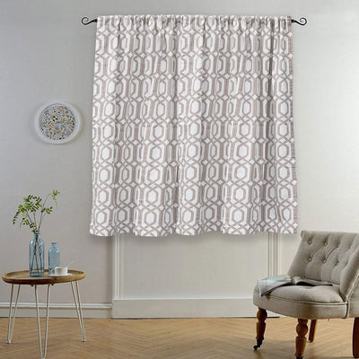MB Ruijin Printed One Piece Pocket/ Tab Top Curtain Curtain MB Traders Mud W-50 x L-110 Inches