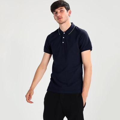 Polo Republica Basic Tipping Short Sleeve Polo Shirt Men's Polo Shirt Polo Republica Navy S