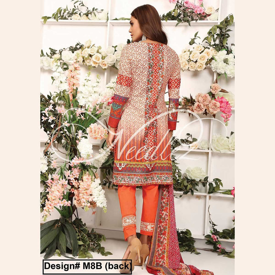 Needlez by Shalimar Unstitched Maric Misha Lawn Embroidery Suit