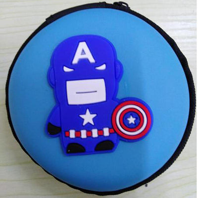 Cartoon Character Headphone Storage Bag Storage Bag Sunshine China Captain America Sky Blue